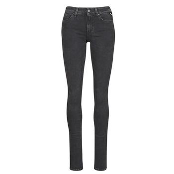 material Women slim jeans Replay LUZ / HYPERFLEX / RE-USED Black