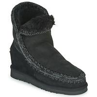 Shoes Women Mid boots Mou ESKIMO INNER WEDGE SHORT Black