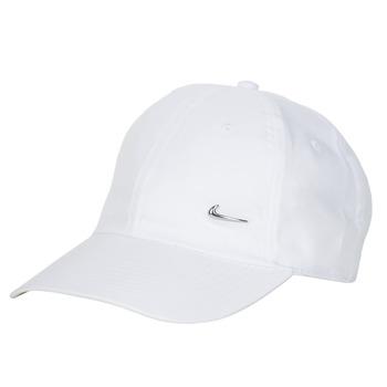 Clothes accessories Caps Nike U NSW H86 METAL SWOOSH CAP White / Silver