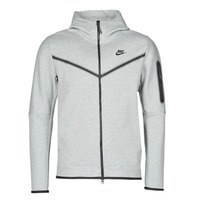 material Men Jackets Nike M NSW TCH FLC HOODIE FZ WR Grey / Black