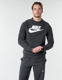 material Men sweaters Nike M NSW MODERN CRW FLC HBR Black / White