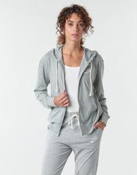 material Women sweaters Nike W NSW GYM VNTG HOODIE FZ Grey