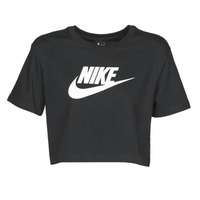 material Women short-sleeved t-shirts Nike W NSW TEE ESSNTL CRP ICN FTR Black