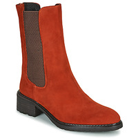 Shoes Women Mid boots Regard DAMGAN V2 VELOURS CHATAIGNE Red