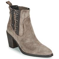 Shoes Women Ankle boots Regard ELCHE V4 VELOURS TALPA Beige
