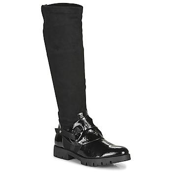 Shoes Women Boots Regard CANET V1 VERNIS NOIR Black
