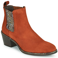 Shoes Women Ankle boots Regard NOISY V3 VELOURS TUILE Red