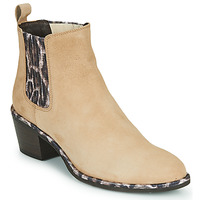Shoes Women Ankle boots Regard NOISY V7 VELOURS SAFRAN Beige