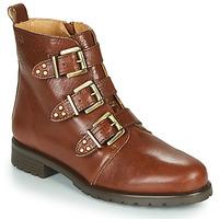 Shoes Women Mid boots Dream in Green NOURAT Camel