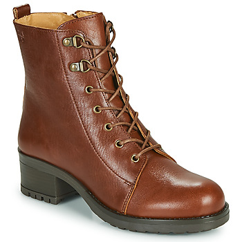 Shoes Women Ankle boots Dream in Green NAFFY Camel