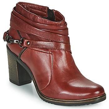 Shoes Women Low boots Dream in Green NEGUS Bordeaux