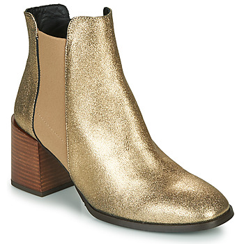 Shoes Women Ankle boots Fericelli NIOCHE Gold