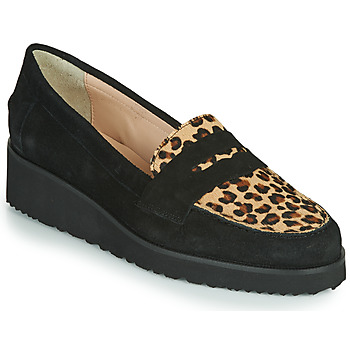 Shoes Women Loafers Fericelli NECLAIR Black / Animal