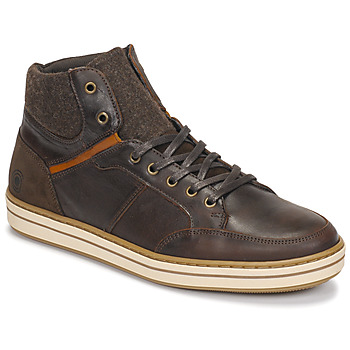 Shoes Men High top trainers Casual Attitude NOURDON Brown