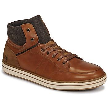 Shoes Men High top trainers Casual Attitude NOURDON Camel