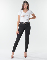 material Women 5-pocket trousers Guess CURVE X Black