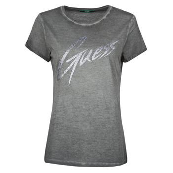 material Women short-sleeved t-shirts Guess SS CN IVONNE TEE Black