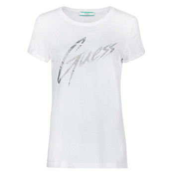material Women short-sleeved t-shirts Guess SS CN IVONNE TEE White