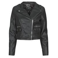 material Women Leather jackets / Imitation le Guess FRANCES JACKET Black