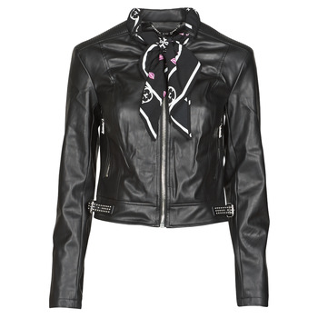 material Women Leather jackets / Imitation le Guess NEW JONE JACKET Black