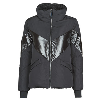 material Women Duffel coats Guess ORIETTA REVERSIBLE Black