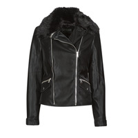 material Women Leather jackets / Imitation le Guess CANTARA Black