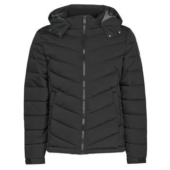 material Men Duffel coats Guess STRETCH PUFFA HOODED Black