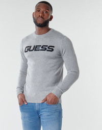 material Men jumpers Guess LOGO SWEATER Grey