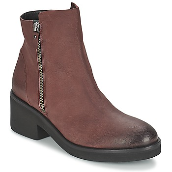Shoes Women Mid boots Vic ASCILLE Bordeaux
