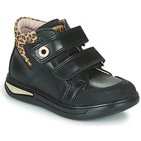 Shoes Girl High top trainers Pablosky 490611 Black / Leopard