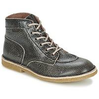 Shoes Women Mid boots Kickers KICKLEGEND Black / Brillant