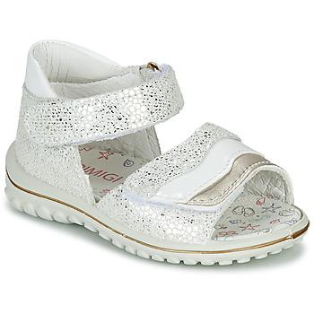 Shoes Girl Sandals Primigi  White / Silver