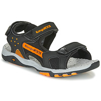 Shoes Boy Sports sandals Kangaroos K-Celtic Black / Orange