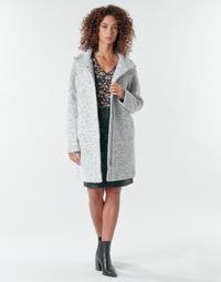 material Women coats Vila VIMEXA Grey