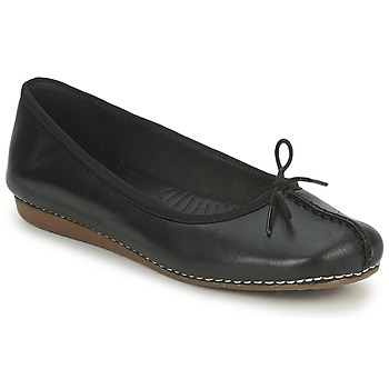 Shoes Women Ballerinas Clarks FRECKLE ICE Black