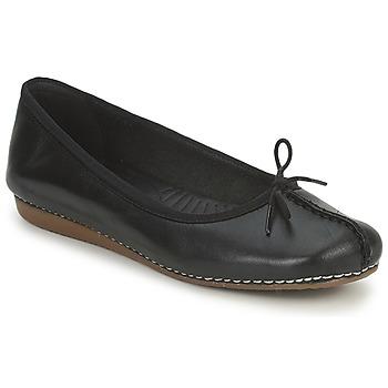 Shoes Women Ballerinas Clarks FRECKLE ICE Black
