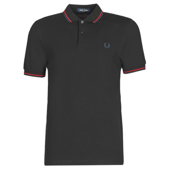 material Men short-sleeved polo shirts Fred Perry TWIN TIPPED FRED PERRY SHIRT  black / Cb
