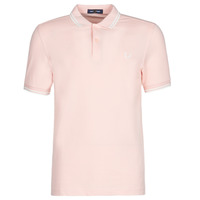material Men short-sleeved polo shirts Fred Perry TWIN TIPPED FRED PERRY SHIRT Silverpink / Snw