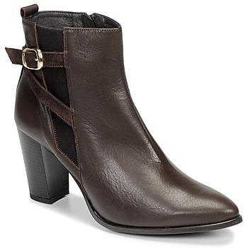 Shoes Women Ankle boots So Size AURELIO Brown