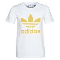 material Women short-sleeved t-shirts adidas Originals TREFOIL TEE White