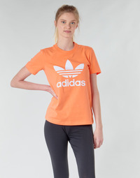 material Women sweaters adidas Originals TREFOIL TEE Orange