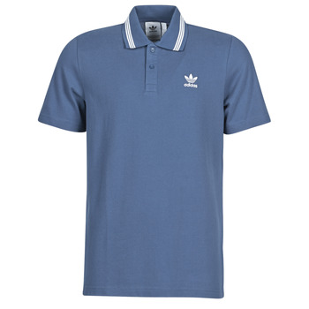 material Men short-sleeved polo shirts adidas Originals PIQUE POLO Blue
