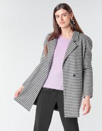 material Women coats Betty London NIVER Black / White