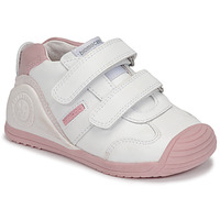 Shoes Girl Low top trainers Biomecanics BIOGATEO SPORT White / Pink