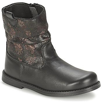 Shoes Girl Boots Citrouille et Compagnie JOUGRI Black