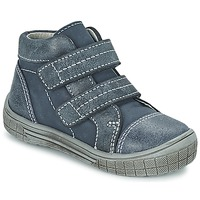 Shoes Boy Mid boots Citrouille et Compagnie ERMETTE Blue / Anthracite