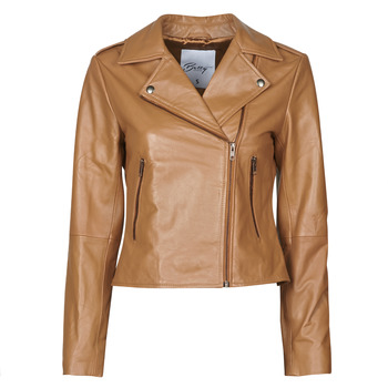 material Women Leather jackets / Imitation le Betty London NROCK Cognac