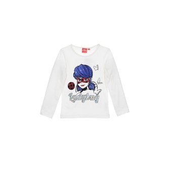material Girl Long sleeved shirts TEAM HEROES  MIRACULOUS LADYBUG White