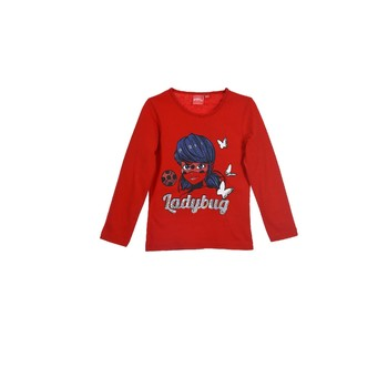material Girl Long sleeved shirts TEAM HEROES  MIRACULOUS LADYBUG Red