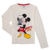 material Boy Long sleeved shirts TEAM HEROES  MICKEY White